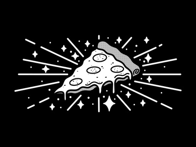 Holiest Of Holies turtle food shine halftone bold cheesy tasty italian holy pizza