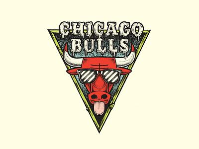 CHI-LL stippling illustration chill summervibes summer chicago chicagobulls bulls