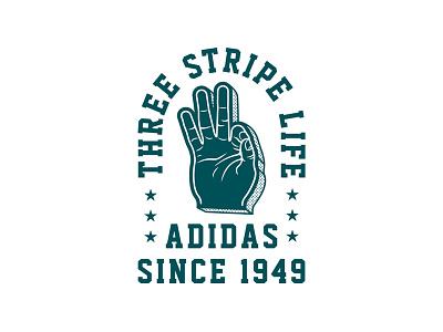 Three Stripe Life three stripes three stripe life adidas foam finger tom philibeck
