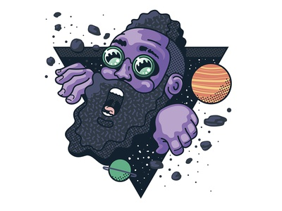 Harden: Space Vibes illustration tom philibeck shirt design adidas space james harden