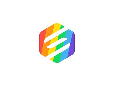 Pride illustration ai logo rainbow love equality pride splice