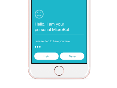 Healthcare app Welcome screen nlp conversational ui ai mobile login ios chat onboarding signup bots healthcare messaging