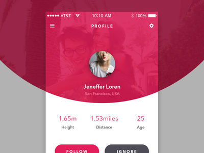 Profile Design For Dating App
