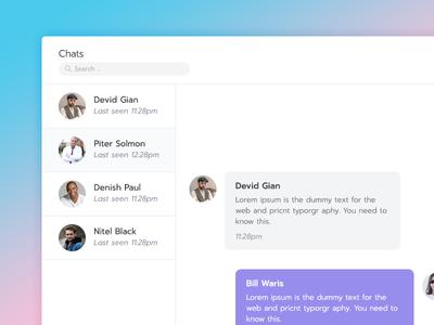 Chat Window UI Design For Admin Dashboard