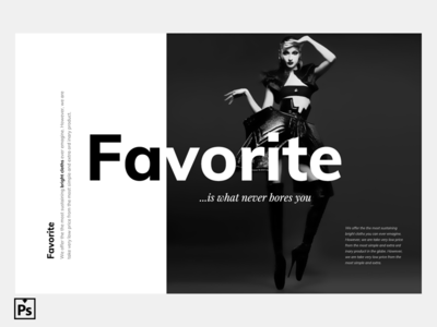 Favorite | Love Black And White | Free PSD favourite black and white download psd free psd intro image hero image website header favorite