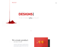 Next   digital agency landing page design
