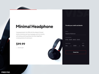 Daily UI 002 - Buy Minimal Headphone Check Out with Credit Card