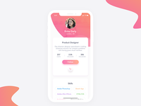 Daily UI 006 - Designer Profile Screen for iPhone X - Free PSD