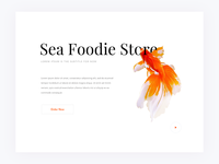 Daily UI 008 | Sea Foodie Store | Free PSD