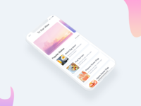 Daily UI 009 I Hotel Services Iphone X | Minimal Design