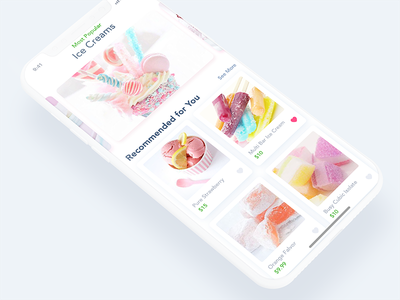 Daily UI 011 - Ice Cream Store - Product Screen mobile app rikonrahman iphone x ecommerce store ice cream daily ui daily ui 011