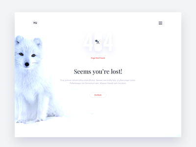 Daily UI 013 - 404 Page Not Found