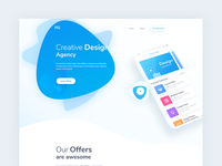 Daily UI 015 - Design Agency Website Header