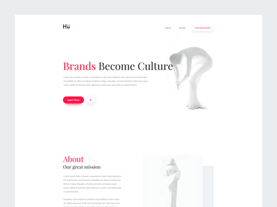 Daily UI 016 - Digital Agency Header rikon rahman clean minimal header ui digital agency web design ui design daily ui 016