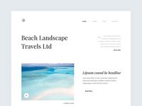 Daily UI 018 - Beach Travel Service