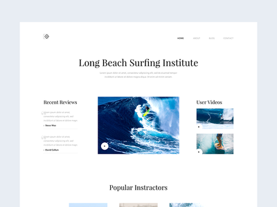Daily UI 025 - Surfing Institute - Intro minimal clean design interface surf beach surfing institute daily ui ui design