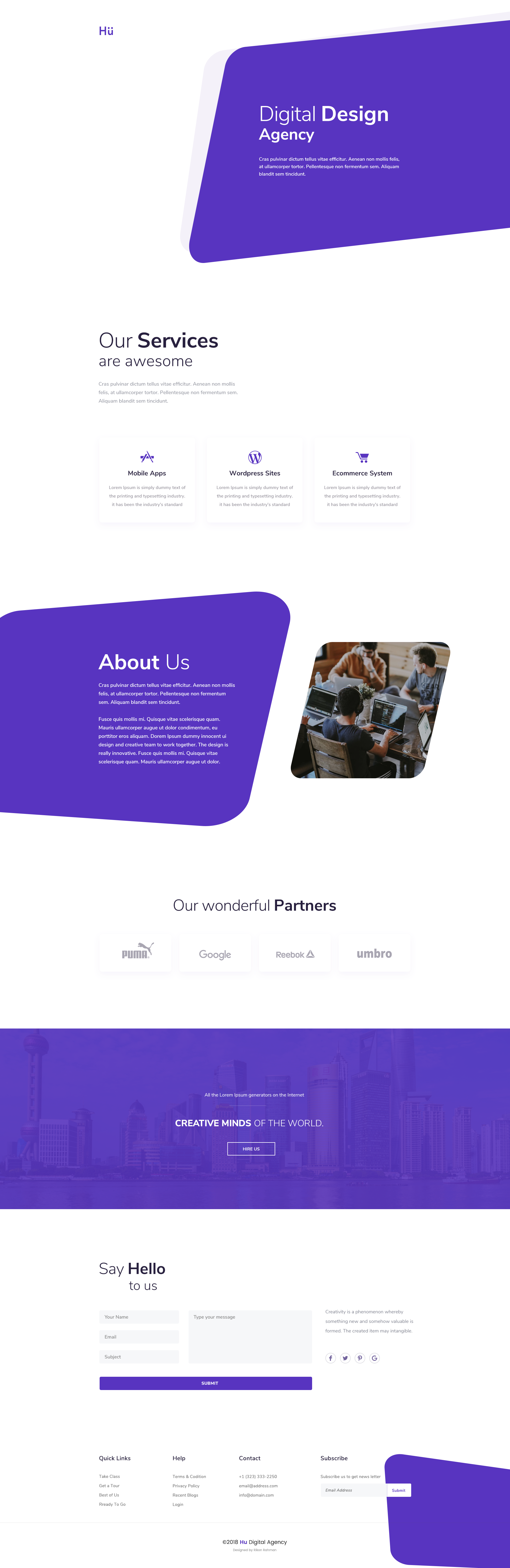 Daily ui 028   digital design agency   home page