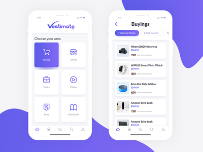Daily UI 029 - Vestimate | Product List - iPhone X UI Design