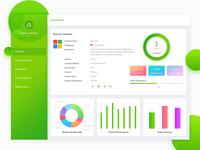 Dashboard UI Design for Company Finance Web App