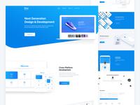 Website Landing Page for Digital Design Agency
