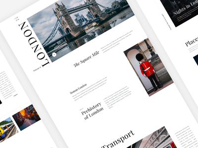 Daily UI 031 - London The City - Travel Website  - Free PSD