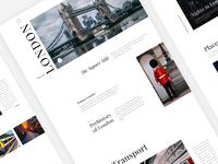 Daily UI 031 - London The City - Travel Website  - Free PSD