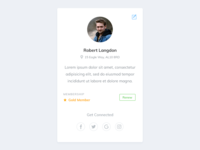 Daily UI 032 - User Profile Card - Free PSD