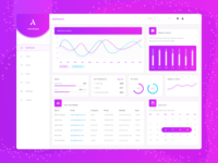 Dashboard UI Design for Online Store - Material Style