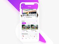 Daily UI 034 - Home Screen For Event App