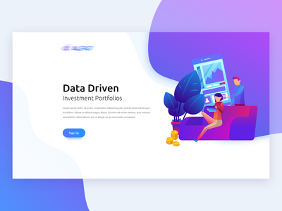 UI Design for Finance Landing Page - Header