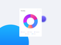 Portfolio Pie Chart UI For Financial Web App
