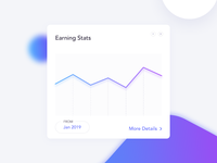 Daily UI 036 - Earning Stats Card - UI Design
