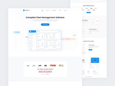 Track Bird - Landing Page for Fleet Management Software