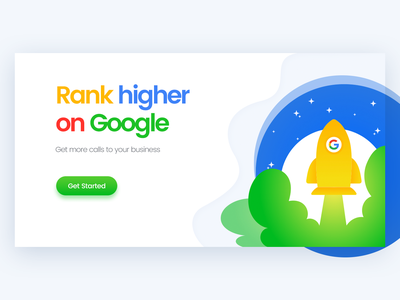 Daily UI 037- Search Engine Marketing - Landing Page Header google ad banner search engine seo google rank marketing google typography vector website web design landing page design illustration daily ui clean rikon rahman minimal ui design
