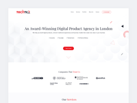 Update of TechTiq Home Page - Header Area