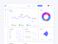 Financial Investing Web App - Dashboard UI Design