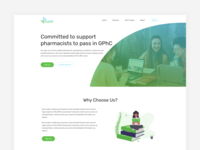 Training Pharmacist - UI Design For Website Landing Page training england london gphc pharmacist study student medical design website ux ux design landing page web design clean rikon rahman minimal ui design