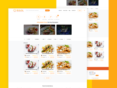 Search Result Page UI Design For My Home Chef website ux design landing page web design clean rikon rahman minimal ui design