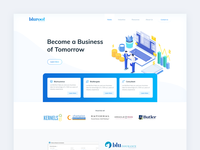 Landing Page Header For Bluroot Consultancy Firm ui ux design landing page daily ui app design web design clean rikon rahman minimal ui design