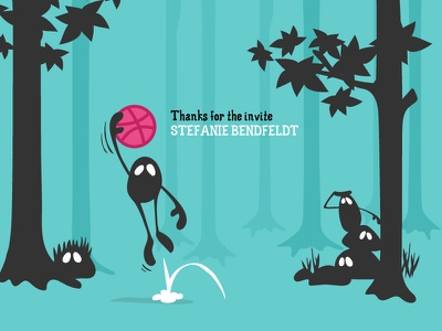 Dribbble Debut illustration creatures forest badabada basketball debut dribbble