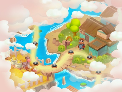 Level map, option for the game player. art draw character gaming game digital illustration 2d illustration mobile app digital colors characters illustration design cartoon