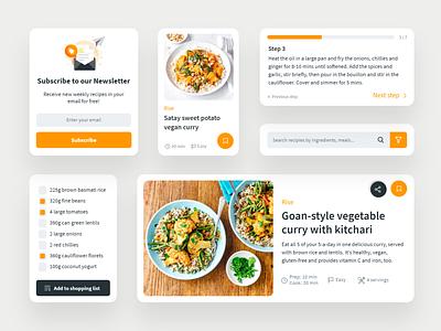 Vegan recipes app components uxtrends userexperience user inteface web food app design app graphicdesign ux trends vegan food vegan components recipes uxdesign uiux ui uidesign webdesign website design