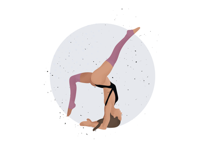 Yoga Illustration girl sport person home stretch yoga studio vector graphicdesign userinterface illustrator cc illustrations yoga app yoga pose illustrator handstand yoga uidesign illustration ui design
