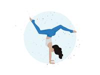 Yoga Illustration Handstand design art uxdesign blue woman yoga app uidesign illustrators vector ux yogi sport illustrator graphicdesign illustration ui design yoga pose girl handstand yoga