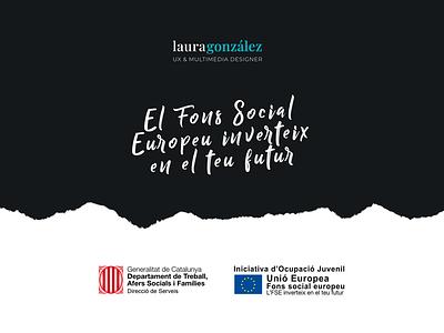Fons Social Europeu emprenedora disseny autònoms european unió juvenile ocupació catalunya generalitat subvencio futur inverteix europeu social fons