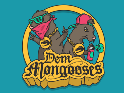 Dem Mongooses snoop dogg gangster gang blackletter street homies thug alligator mongoose