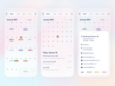 Tiny Calendar Redesign allday task calendar ui app