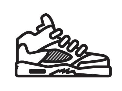 Simple Jordan 5s jordans sneakers icon illustration bored shoes js