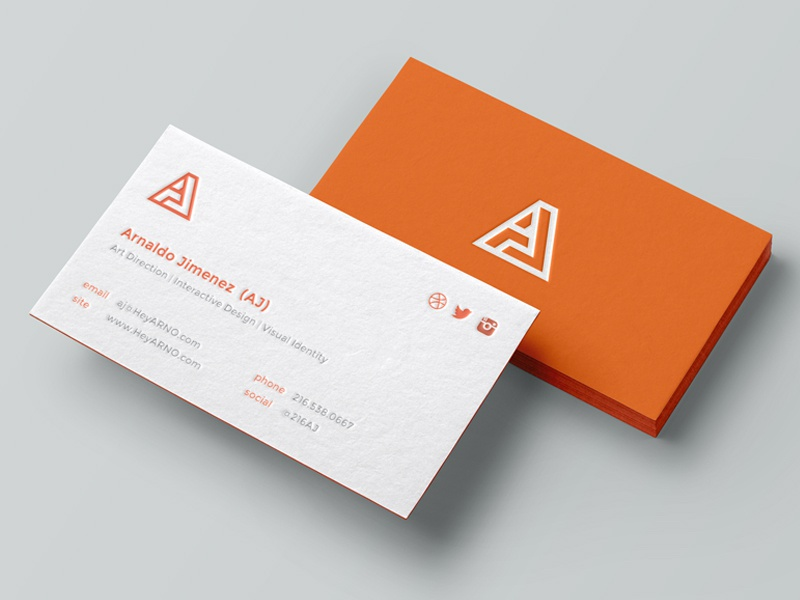Personal Business Cards By AJ Jimenez Dribbble Dribbble