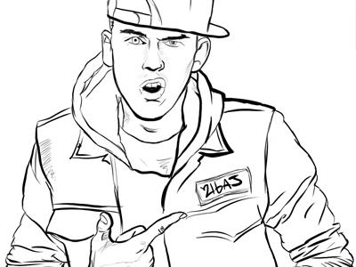 Quick Machine Gun Kelly Sketch By Aj Jimenez Dribbble